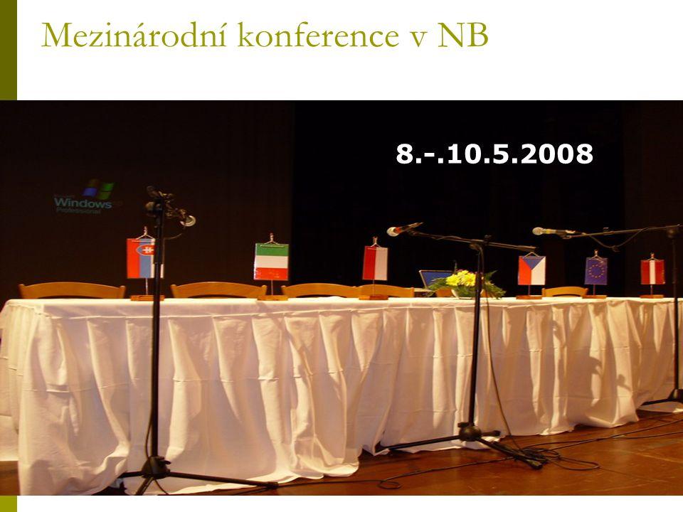 Mezinárodní konference v NB 8.-.10.5.2008