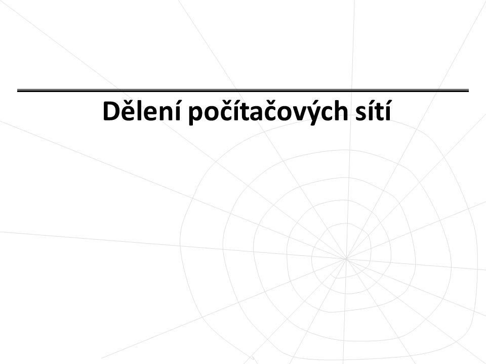 DĚLENÍ PODLE TYPU: Peer – to – peer Client – server