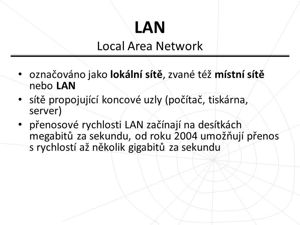 MAN Metropolitan Area Network označováno jako městská síť sítě umožňující rozšíření působnosti lokálních sítí jejich prodloužením, zvýšením počtu připojených stanic a zvýšením rychlosti.