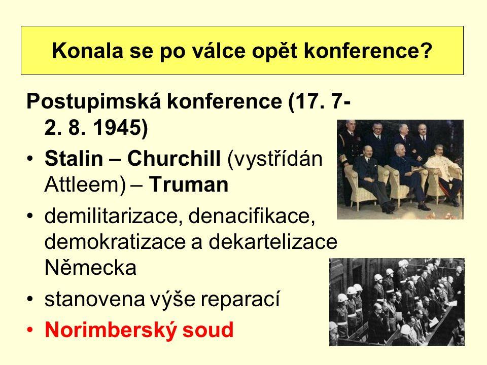 Postupimská konference (17.7- 2. 8.