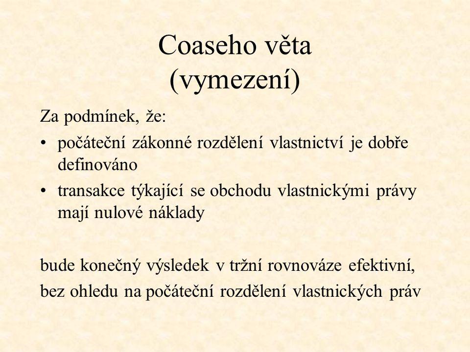 Coaseho věta (příklad)