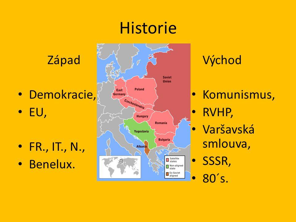 Historie Západ Demokracie, EU, FR., IT., N., Benelux.