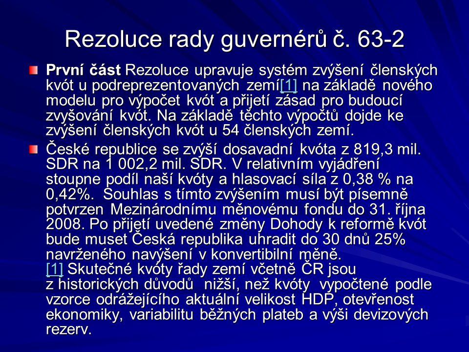 Rezoluce rady guvernérů č.