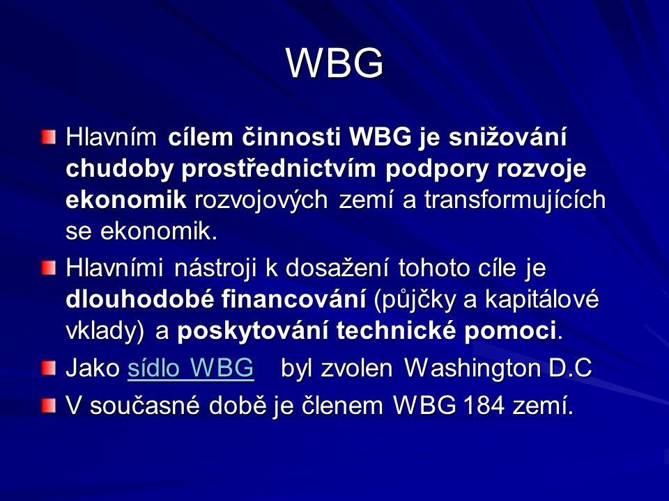 Vztahy ČR a WB Československá republika byla zakládajícím členem WBG.