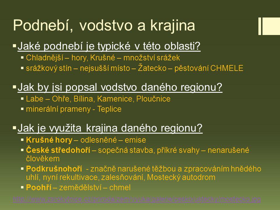 Obyvatelstvo  Osídlení a obyvatelstvo :  pohraničí Němci – odsun (masakry v Ústí, Postoloprty)  hustě zalidněná pánev, většinou ve městech  národnostní menšiny – Slováci a Němci  http://cs.wikipedia.org/wiki/Postoloprtsk%C3%BD_masakr http://cs.wikipedia.org/wiki/Postoloprtsk%C3%BD_masakr  http://cs.wikipedia.org/wiki/%C3%9Asteck%C3%BD_masakr http://cs.wikipedia.org/wiki/%C3%9Asteck%C3%BD_masakr  Oběti byly tlučeny, stříleny, topeny v požární nádrži nebo shozeny z mostu E.