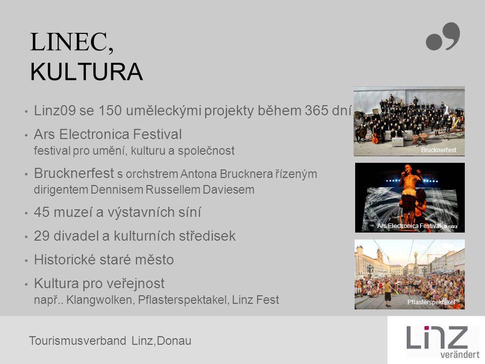 Tourismusverband Linz,Donau Pflasterspektakel LINEC, KULTURA Linz09 se 150 uměleckými projekty během 365 dní Ars Electronica Festival festival pro umě