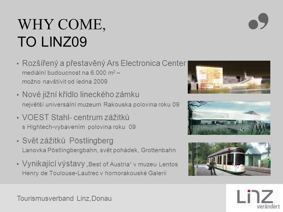 Tourismusverband Linz,Donau WHY COME, TO LINZ09 Rozšířený a přestavěný Ars Electronica Center mediální budoucnost na 6.000 m 2 – možno navštívit od le