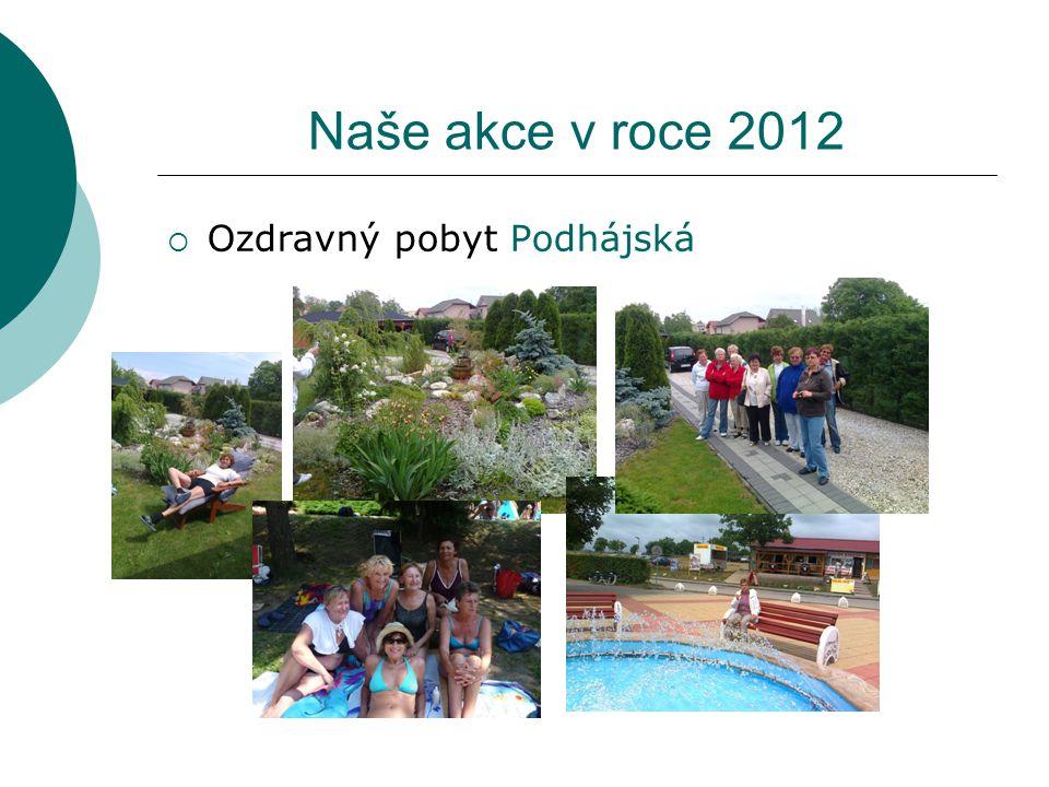 Naše akce v roce 2012  Ozdravný pobyt Podhájská