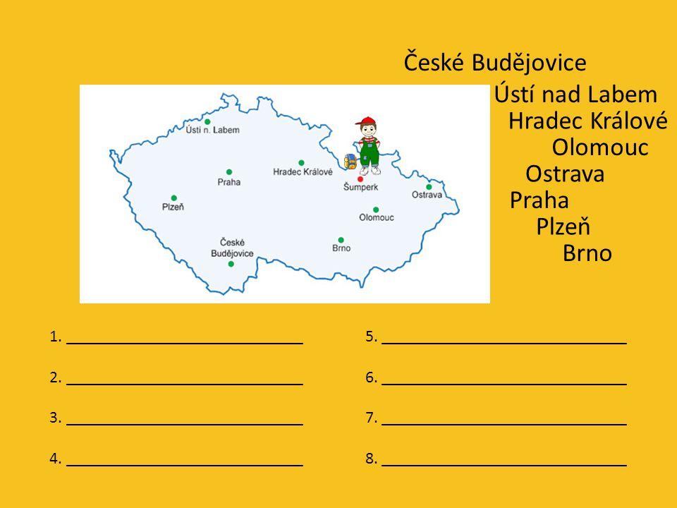 Fanfulínek moc rád cestuje po České republice. Navštívil už několik našich měst.