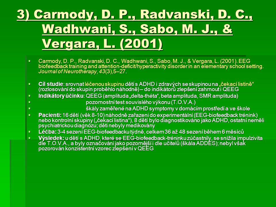 3) Carmody, D. P., Radvanski, D. C., Wadhwani, S., Sabo, M. J., & Vergara, L. (2001)  Carmody, D. P., Radvanski, D. C., Wadhwani, S., Sabo, M. J., &