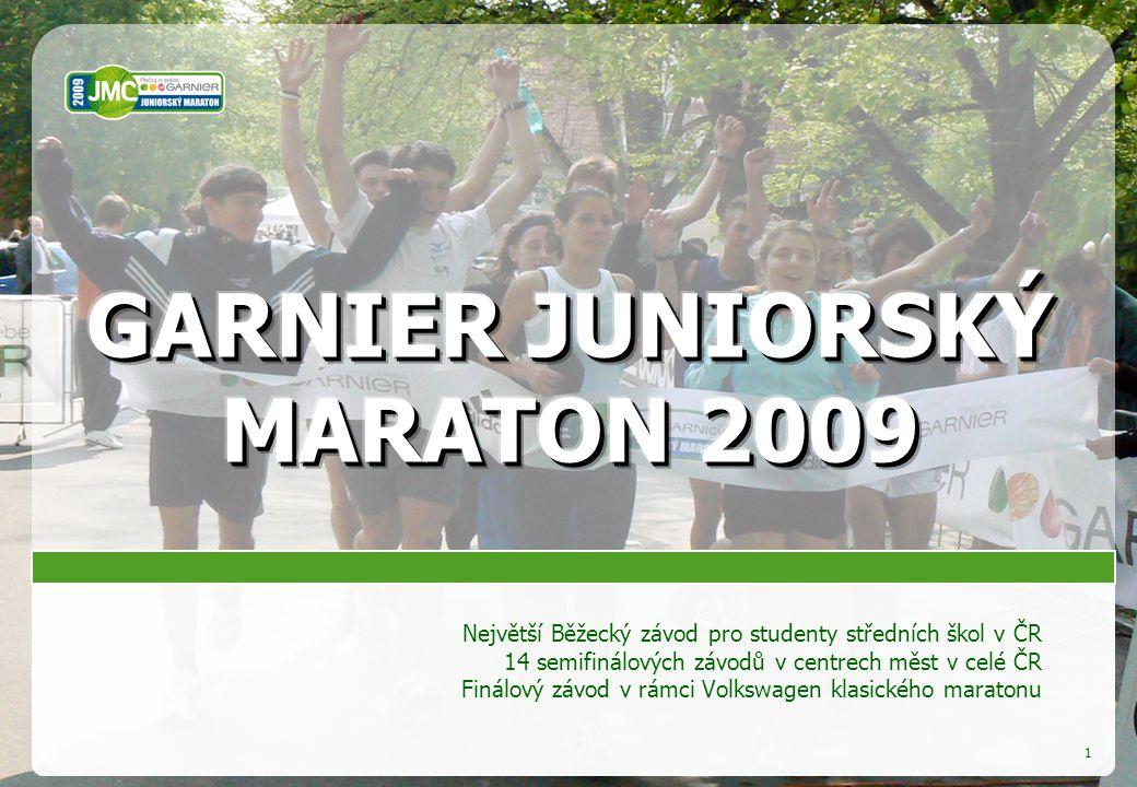 1 Největší Běžecký závod pro studenty středních škol v ČR 14 semifinálových závodů v centrech měst v celé ČR Finálový závod v rámci Volkswagen klasického maratonu