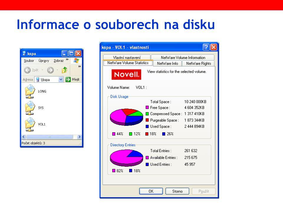 Informace o souborech na disku