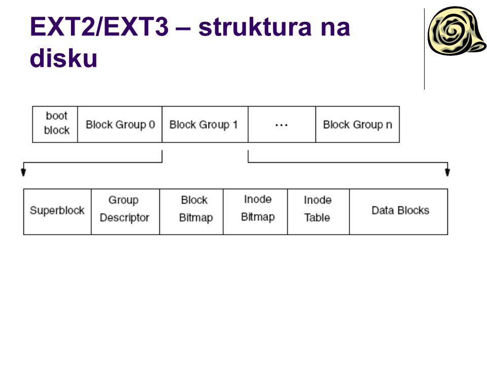 EXT2/EXT3 – struktura na disku