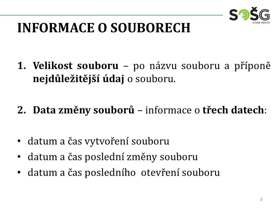 OPAKOVÁNÍ 1.Co je to kořenový adresář.2.Je dána cesta D:\Data\Dokumenty\zpráva.doc.