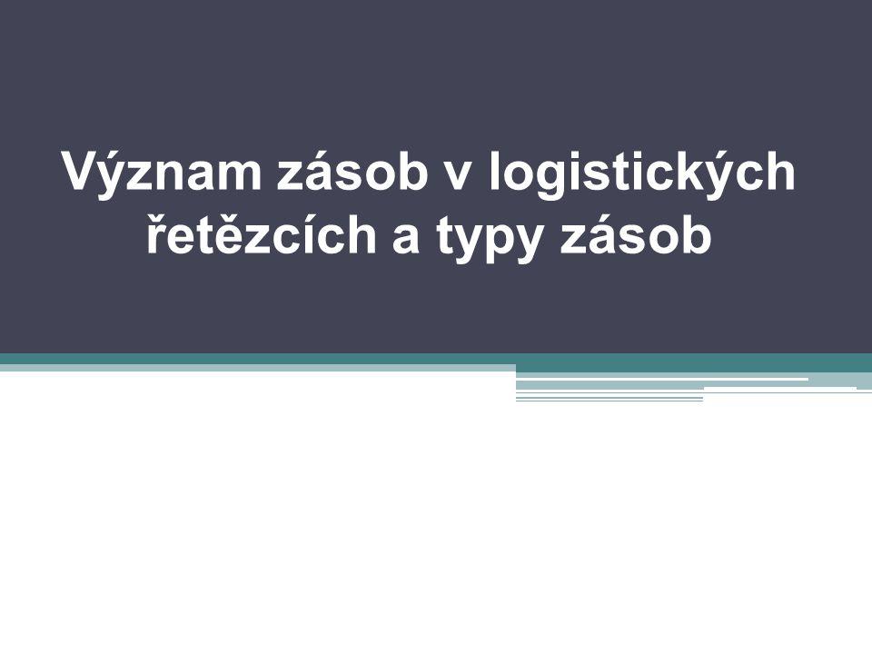 Význam zásob v logistických řetězcích a typy zásob