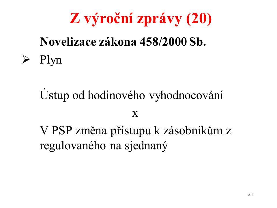 21 Novelizace zákona 458/2000 Sb.