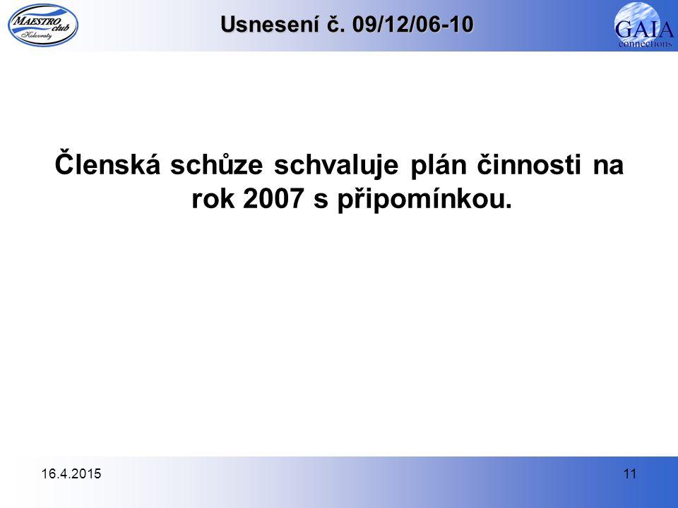 16.4.201511 Usnesení č.