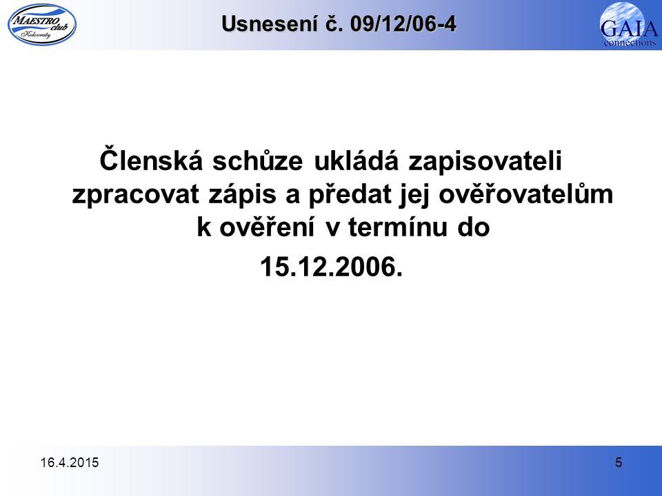 16.4.20155 Usnesení č.