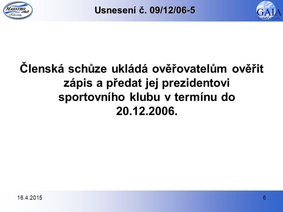 16.4.20156 Usnesení č.
