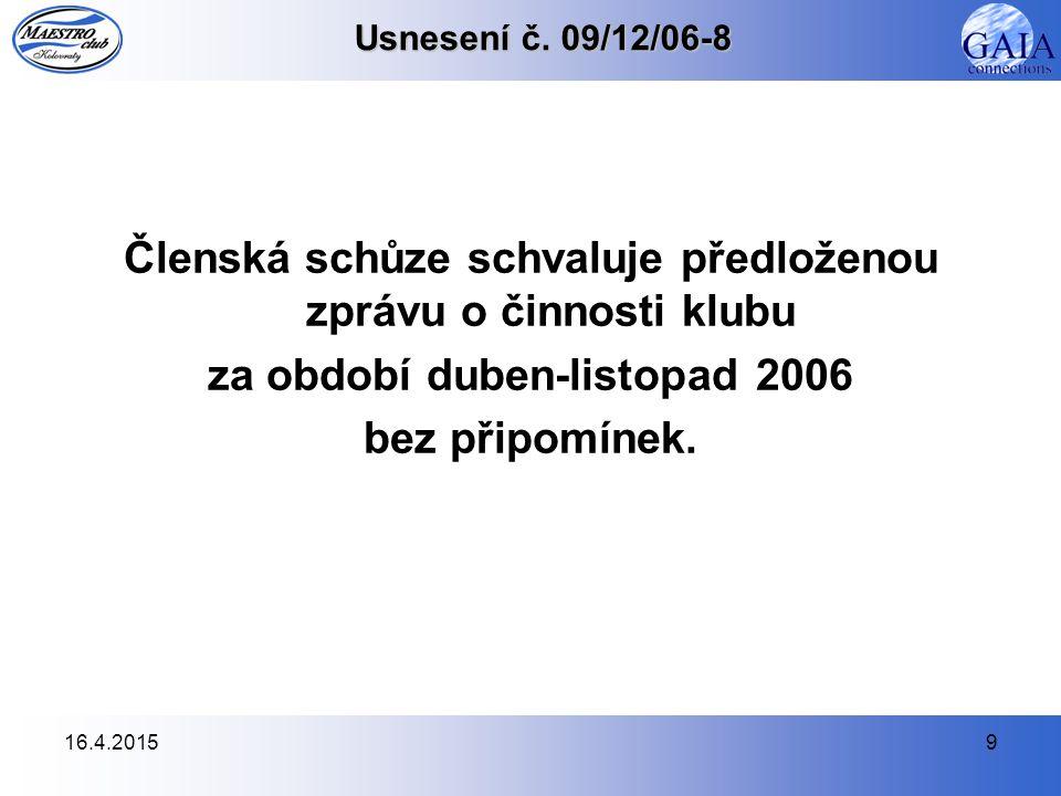 16.4.20159 Usnesení č.