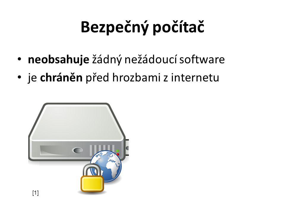 Bezpečnostní chyby díry v operačním systému i v aplikacích časté ve webovém prohlížeči umožňují např.: – přístup k souborům v počítači, – samovolné spuštění viru z e-mailu, … cca 1 bezpečnostní chyba na 1000 řádků kódu