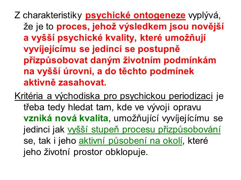 Literatura: Kuric, J.Ontogenetická psychologie. VUT v Brně, Akademické nakladatelství CERM.