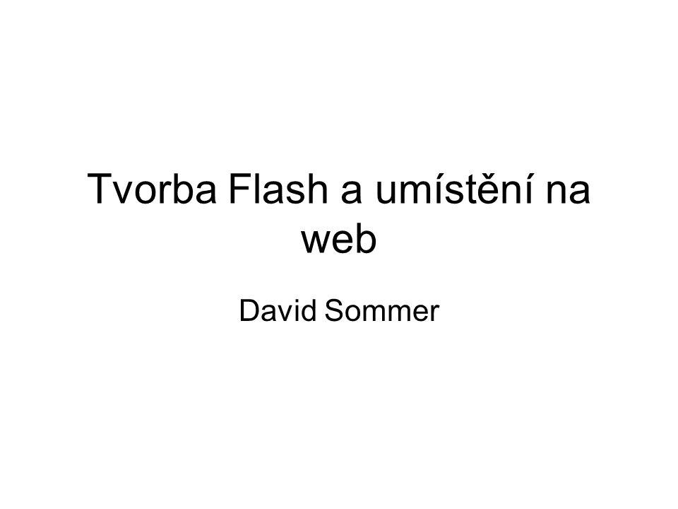 Tvorba Flash a umístění na web David Sommer