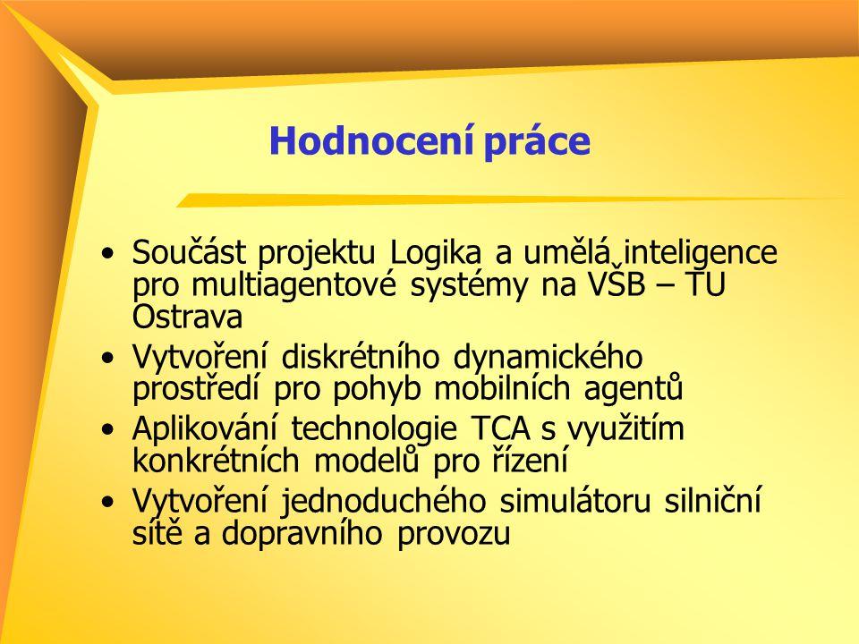 Hodnocení práce Součást projektu Logika a umělá inteligence pro multiagentové systémy na VŠB – TU Ostrava Vytvoření diskrétního dynamického prostředí