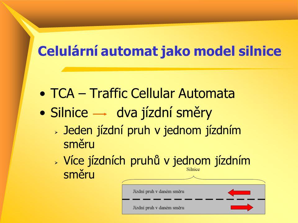 CA : Jeden jízdní pruh Rozdělen na konečný počet buněk konstantní velikosti Každá buňka může obsahovat max.