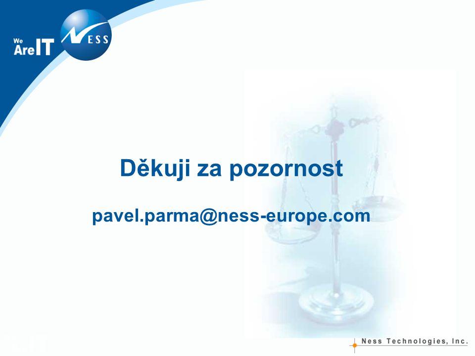 Děkuji za pozornost pavel.parma@ness-europe.com