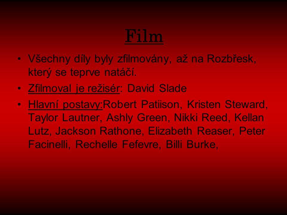 Film Všechny díly byly zfilmovány, až na Rozbřesk, který se teprve natáčí.