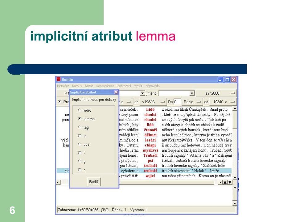 CJBB75 6 implicitní atribut lemma