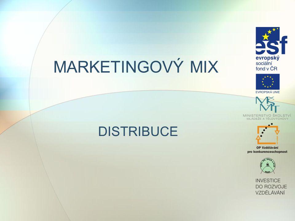 DISTRIBUCE Výběr způsobu distribuce zboží k zákazníkovi je velmi důležitým nástrojem MTG mixu.