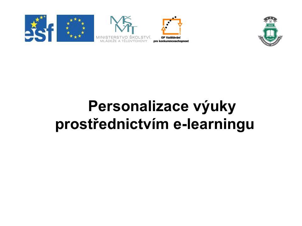 Personalizace výuky prostřednictvím e-learningu