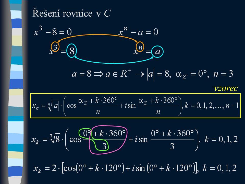 Řešení rovnice v C vzorec