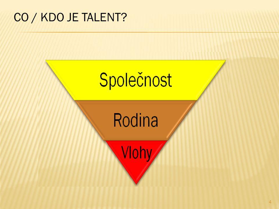  co / kdo je talent  jak najít talent  jak rozvíjet talent  jak uplatnit talent v praxi  co je požadováno po talentech dnes  jak pracovat s talenty v budoucnu 3