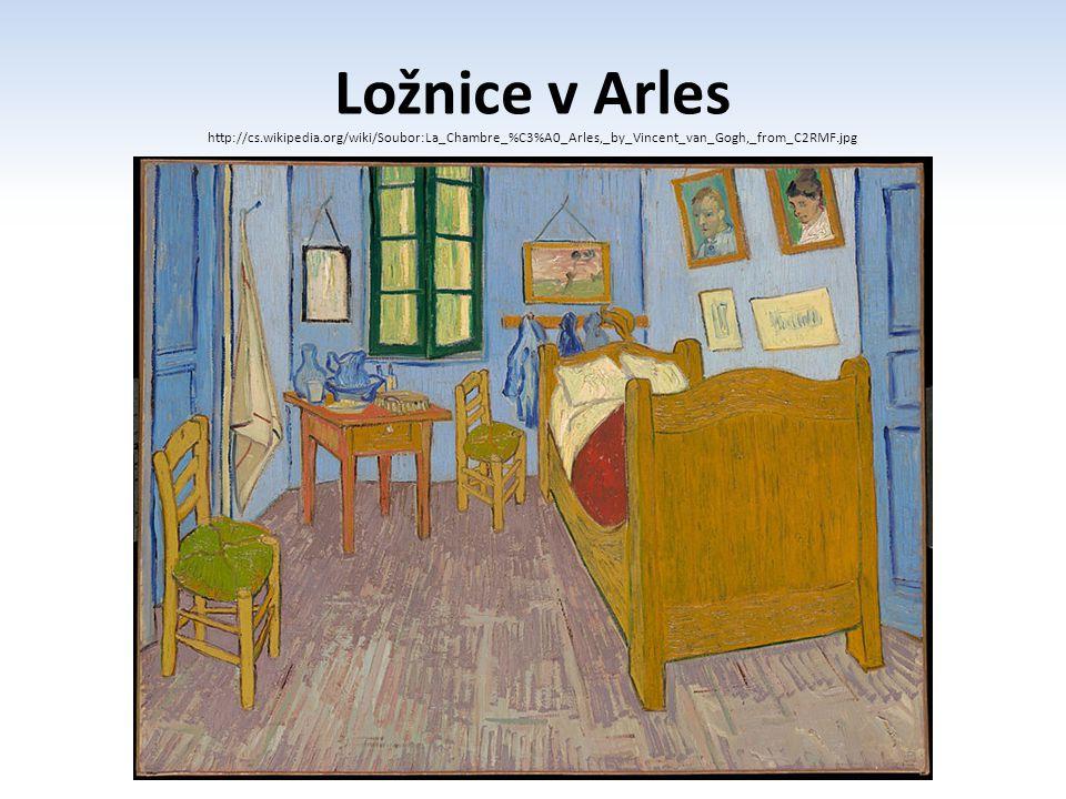 Ložnice v Arles http://cs.wikipedia.org/wiki/Soubor:La_Chambre_%C3%A0_Arles,_by_Vincent_van_Gogh,_from_C2RMF.jpg