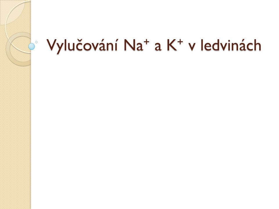 Vylučování Na + a K + v ledvinách