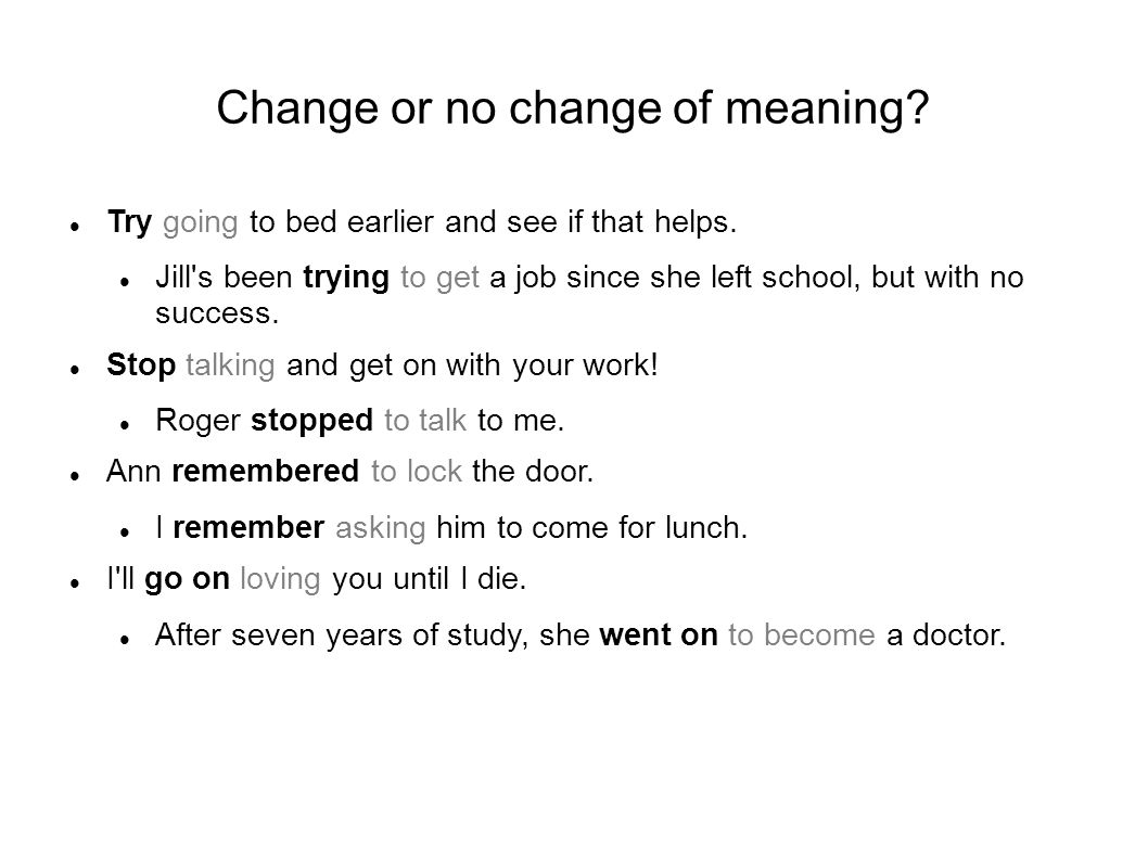 Change of meaning - practice I don t remember inviting him.
