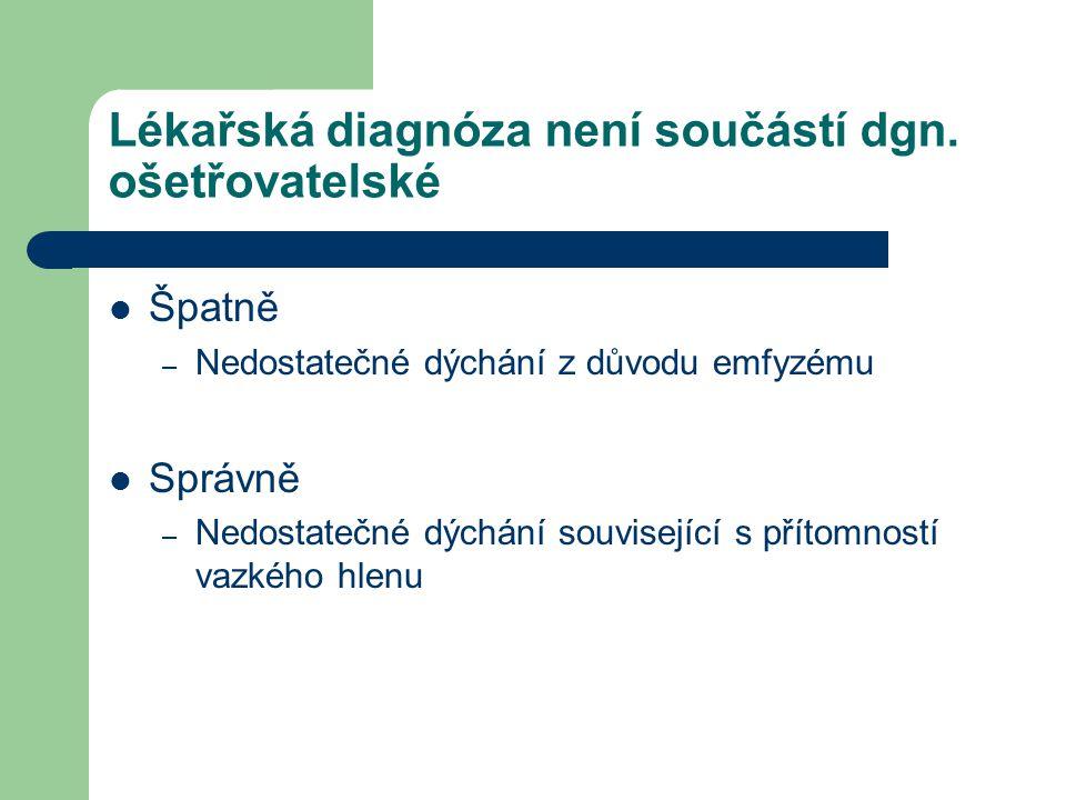 Lékařská diagnóza není součástí dgn.