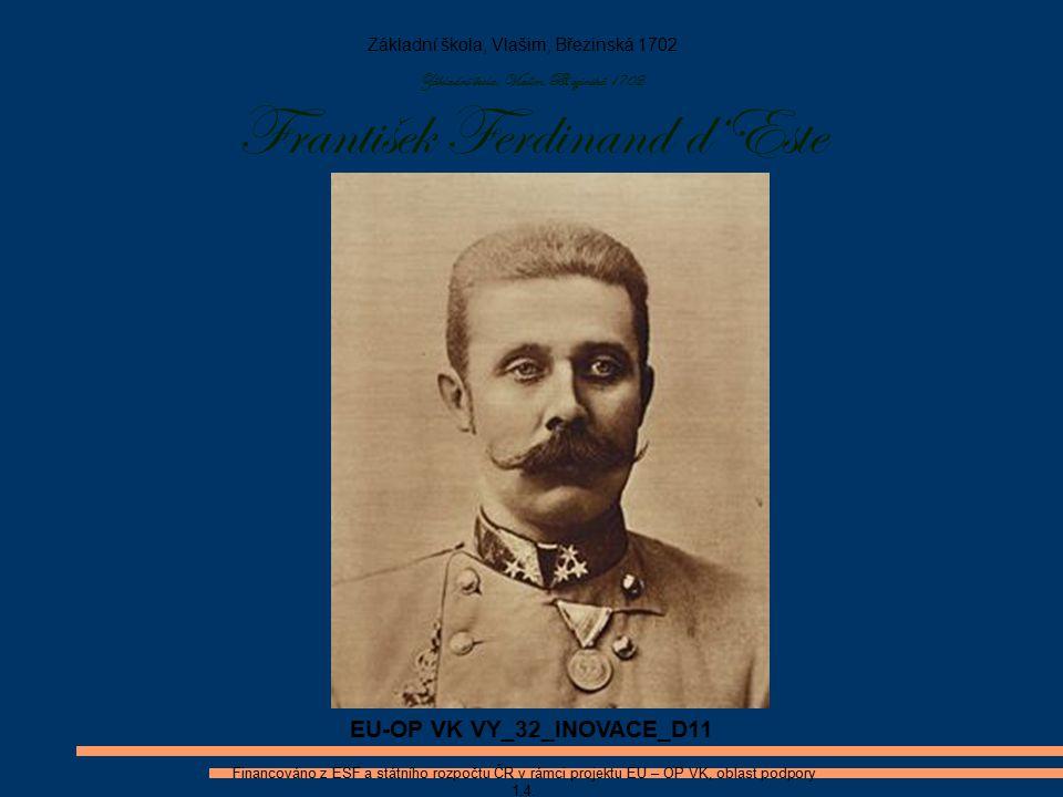 Životopis Celé jméno: František Ferdinand Karel Ludvík Josef Maria von Österreich I.
