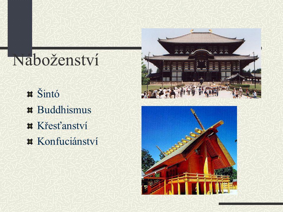 Náboženství Šintó Buddhismus Křesťanství Konfuciánství