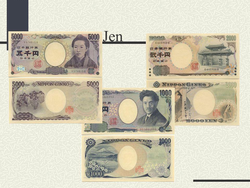 Peněžní jednotka a její dělení, používání cizích měn Japonský jen (kód ISO: JPY), 1 USD = cca 105,35 JPY (průměrný kurz za první polovinu roku 2005).