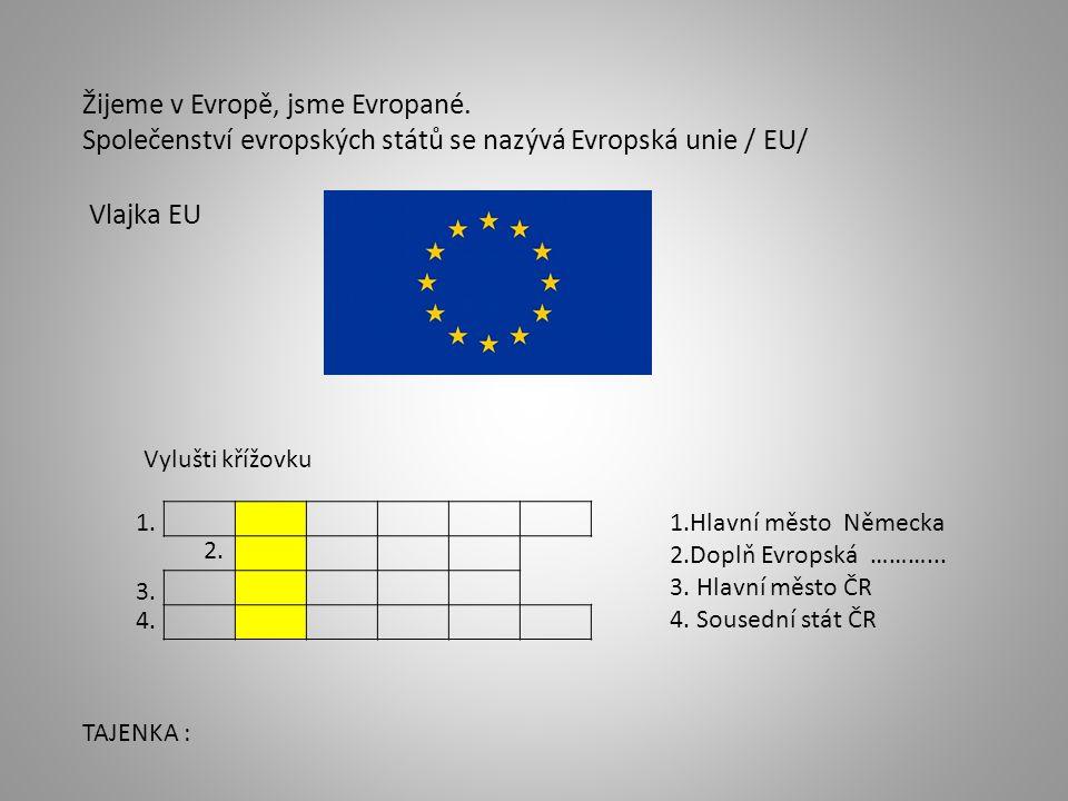 Žijeme v Evropě, jsme Evropané.