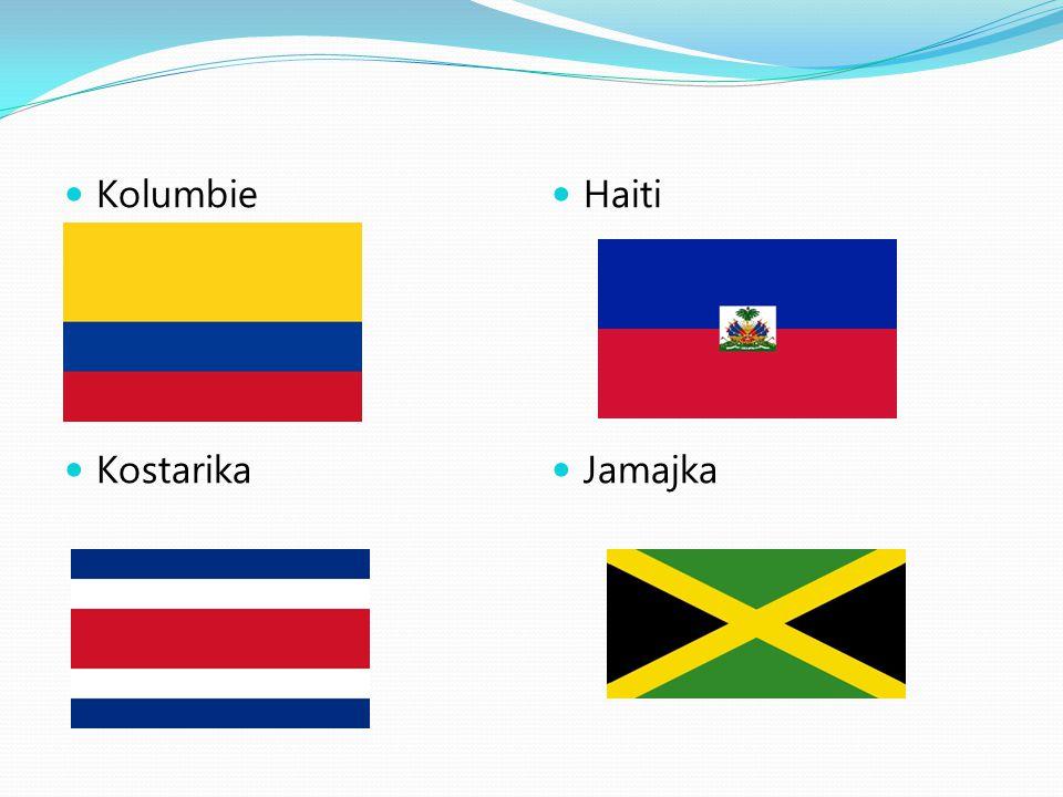 Kolumbie Kostarika Haiti Jamajka