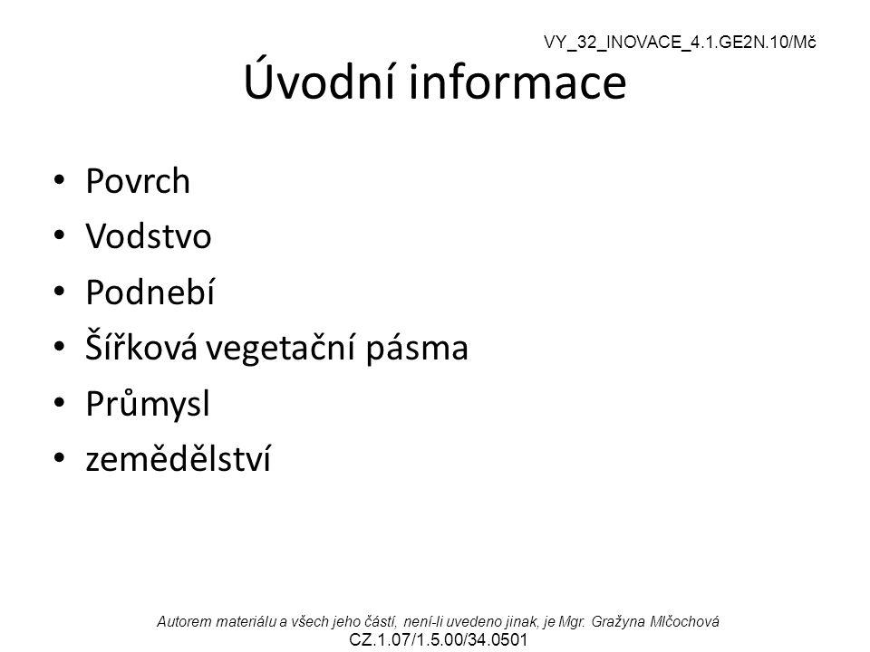 VY_32_INOVACE_4.1.GE2N.10/Mč Autorem materiálu a všech jeho částí, není-li uvedeno jinak, je Mgr. Gražyna Mlčochová CZ.1.07/1.5.00/34.0501 Úvodní info