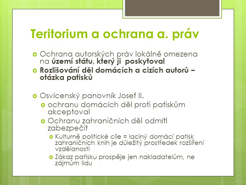 Teritorium a ochrana a.