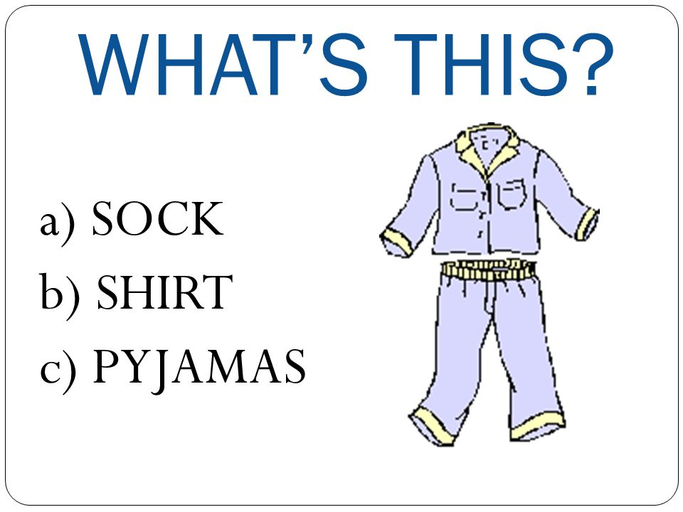 CLOTHES QUIZ
