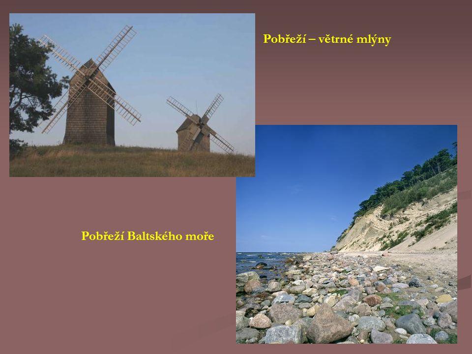 Pobřeží – větrné mlýny Pobřeží Baltského moře