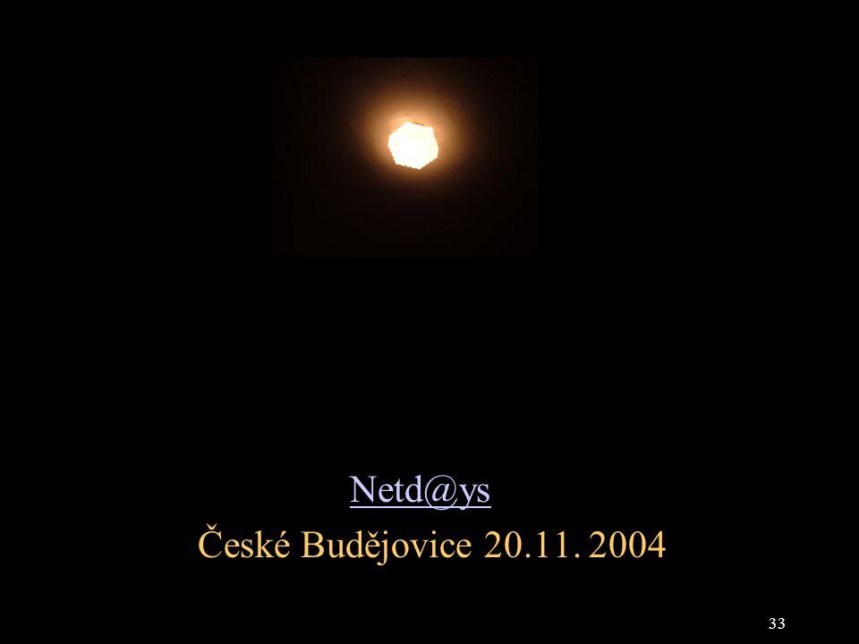 33 Netd@ys České Budějovice 20.11. 2004